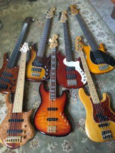 Jeff Gellis' Bass collection (partial)